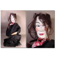 Rare grande marionnette chinoise XIXème