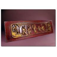 Panneau de lit chinois XIXème