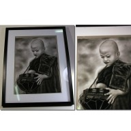 Grande peinture de moines bouddhistes