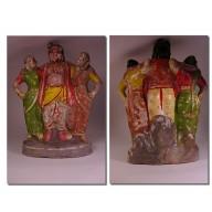 Statue indienne terre cuite des Indes XXème