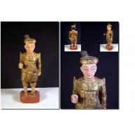 Statue Birmane : Nat birman de soldat  milieu XXème
