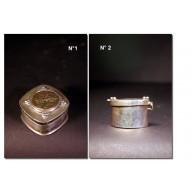 Boîte birmane en argent XIXème