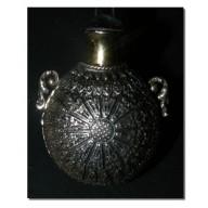 Petite fiole indienne en argent XIXème