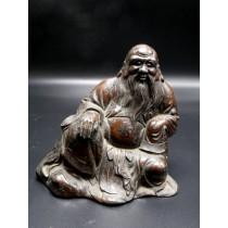 Statue Chine : sage chinois XIXème