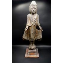 Statue grand bouddha birman varada mudra milieu XXème