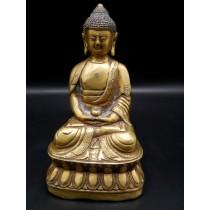 Statue bouddha en dyani mudra avec le bol a aumônes