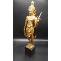 Statue thailandaise : grand musicien royal milieu XXème