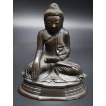 Bouddha birman Bhûmishparsha-mudrâ mil. XXème