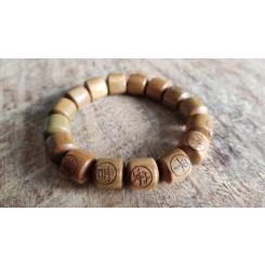 Bracelet mala en bois