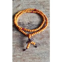 Bracelet Mala en bois de santal 108 perles